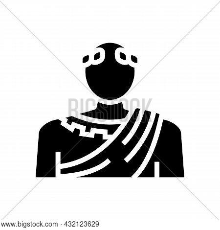 Emperor Ancient Rome Glyph Icon Vector. Emperor Ancient Rome Sign. Isolated Contour Symbol Black Ill