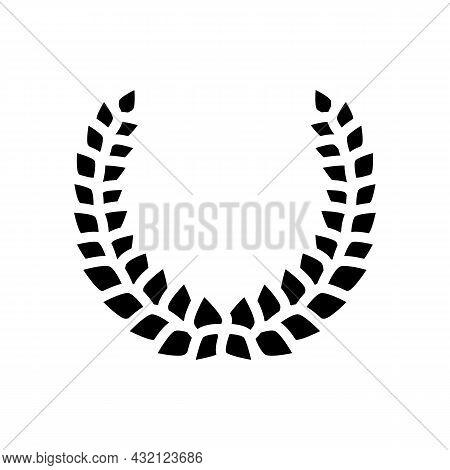 Laurel Wreath Ancient Rome Glyph Icon Vector. Laurel Wreath Ancient Rome Sign. Isolated Contour Symb