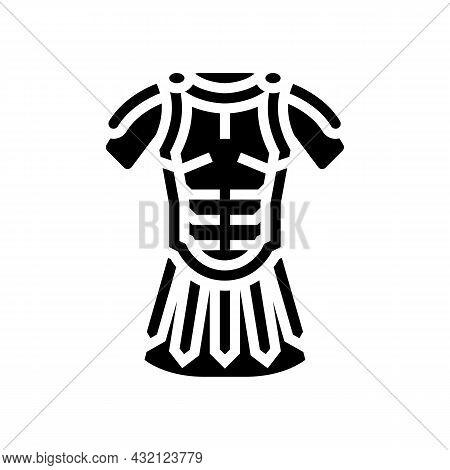 Legionary Clothes Ancient Rome Glyph Icon Vector. Legionary Clothes Ancient Rome Sign. Isolated Cont