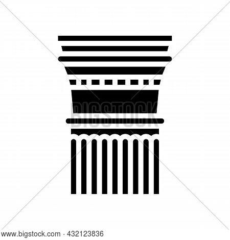 Column Ancient Rome Glyph Icon Vector. Column Ancient Rome Sign. Isolated Contour Symbol Black Illus