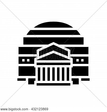 Pantheon Ancient Rome Building Glyph Icon Vector. Pantheon Ancient Rome Building Sign. Isolated Cont