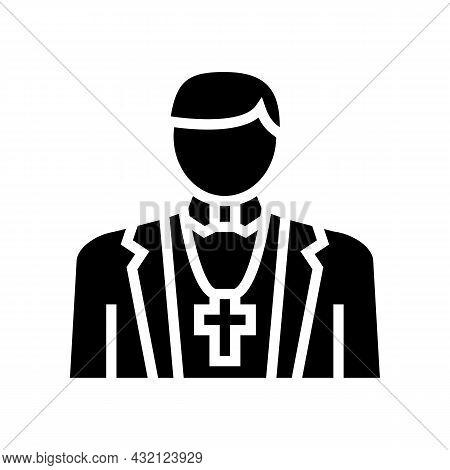 Catholic Religion Glyph Icon Vector. Catholic Religion Sign. Isolated Contour Symbol Black Illustrat