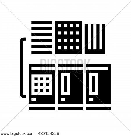 Commercial Or Industrial Conditioning System Glyph Icon Vector. Commercial Or Industrial Conditionin