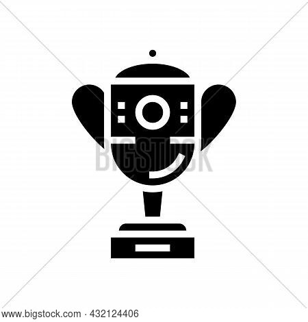 Champion Award Golf Tournament Glyph Icon Vector. Champion Award Golf Tournament Sign. Isolated Cont