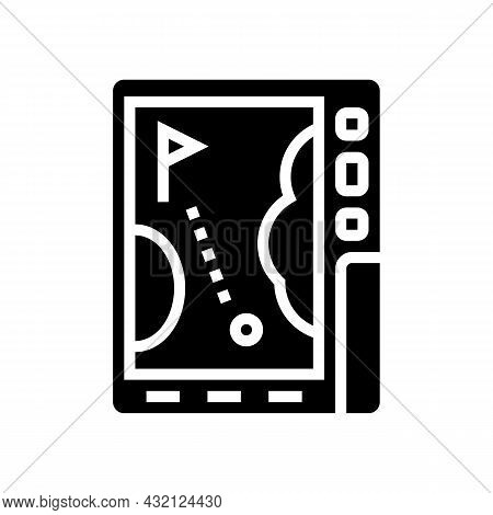 Gps Device Golf Game Glyph Icon Vector. Gps Device Golf Game Sign. Isolated Contour Symbol Black Ill