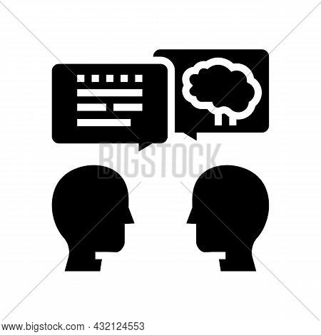 Intelligent Talking Glyph Icon Vector. Intelligent Talking Sign. Isolated Contour Symbol Black Illus