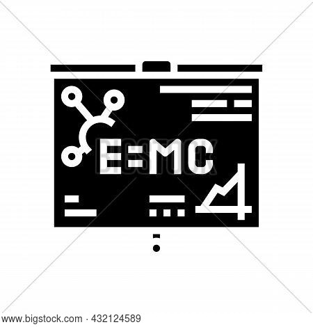 Physics Studying Glyph Icon Vector. Physics Studying Sign. Isolated Contour Symbol Black Illustratio