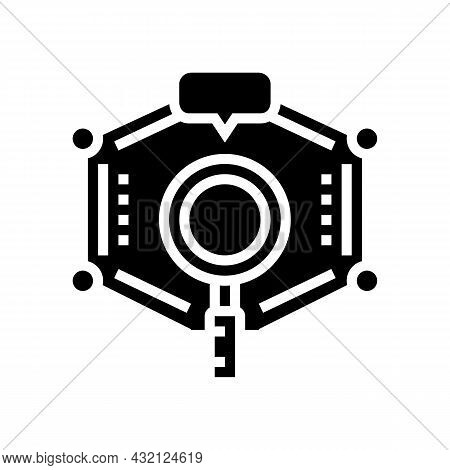 Researching Educational Theme Glyph Icon Vector. Researching Educational Theme Sign. Isolated Contou