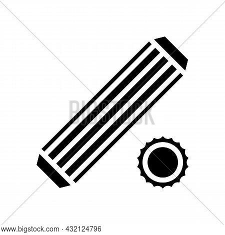 Dowel Screw Glyph Icon Vector. Dowel Screw Sign. Isolated Contour Symbol Black Illustration
