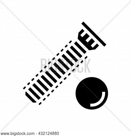 Press-fit Stud Glyph Icon Vector. Press-fit Stud Sign. Isolated Contour Symbol Black Illustration