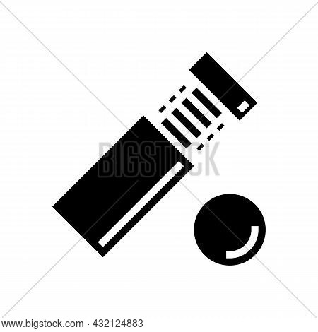 Standoff Screw Glyph Icon Vector. Standoff Screw Sign. Isolated Contour Symbol Black Illustration