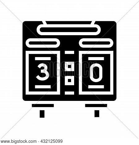 Scoreboard Soccer Glyph Icon Vector. Scoreboard Soccer Sign. Isolated Contour Symbol Black Illustrat