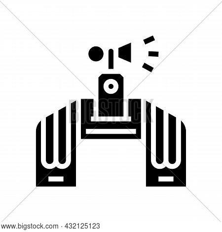 Fan Attributes Glyph Icon Vector. Fan Attributes Sign. Isolated Contour Symbol Black Illustration