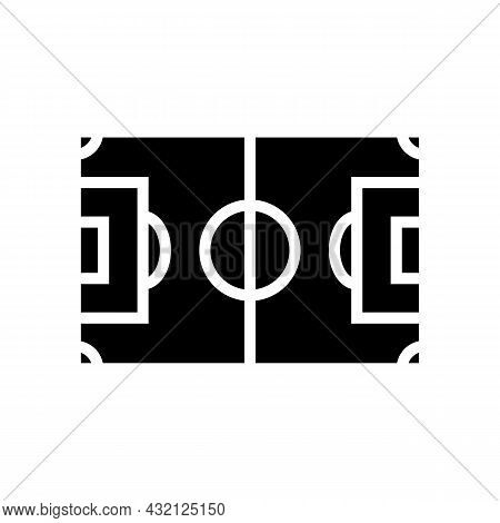 Field Soccer Glyph Icon Vector. Field Soccer Sign. Isolated Contour Symbol Black Illustration