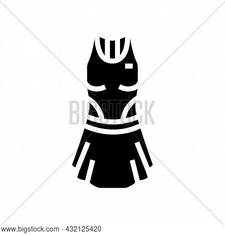 Women Tennis Apparel Glyph Icon Vector. Women Tennis Apparel Sign. Isolated Contour Symbol Black Ill