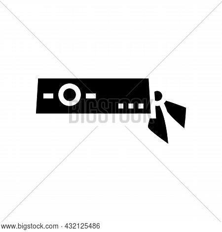 Headband Tennis Player Glyph Icon Vector. Headband Tennis Player Sign. Isolated Contour Symbol Black