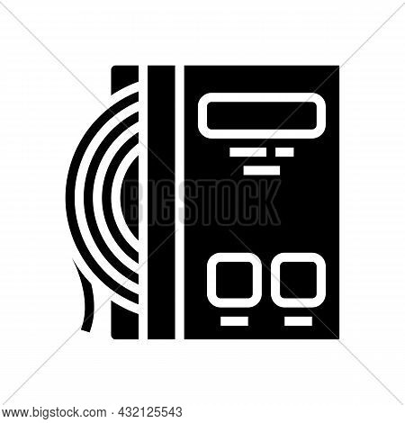 Strings Tennis Glyph Icon Vector. Strings Tennis Sign. Isolated Contour Symbol Black Illustration