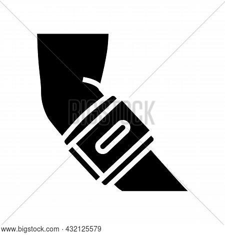 Tennis Braces Glyph Icon Vector. Tennis Braces Sign. Isolated Contour Symbol Black Illustration