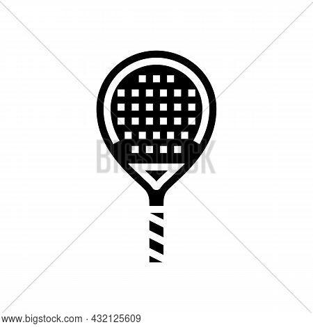 Paddle Racket Glyph Icon Vector. Paddle Racket Sign. Isolated Contour Symbol Black Illustration