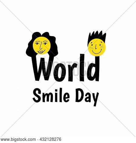 World Smile Day. Vector Illustration In Flat Style.
