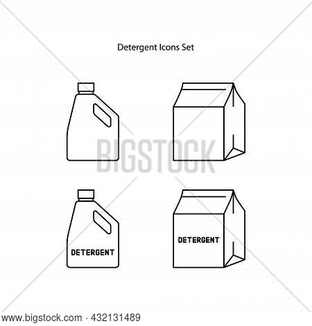 Detergent Icon Isolated On White Background. Detergent Icon Thin Line Outline Linear Detergent Symbo