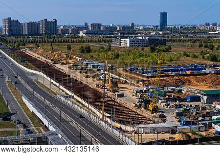 Construction Of A New Underground Station In Kazan. Construction Of The Station. Underground Constru
