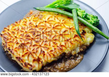 Tender Minced Lamb With Garden Veg In A Hearty Gravy Beneath Butter Mash, Typical Shepherd's Pie