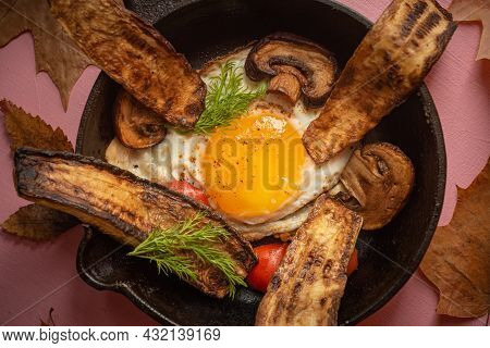 Style Of Cuisine- Chicken Egg Is Prepared For Cooking