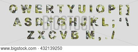 Creative Typeset- Stylish Classic Font. 3D Illustration Character Collection