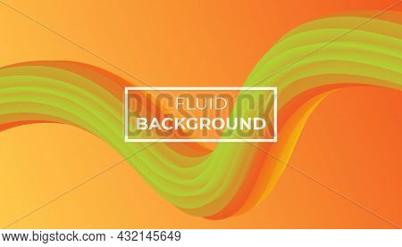 Orange Fluid Background. Abstract Fluid Background Texture On Elegant Rich Luxury Background Web Template Or Website Abstract Background Gradient Or Textured Background Orange. Vector background EPS10