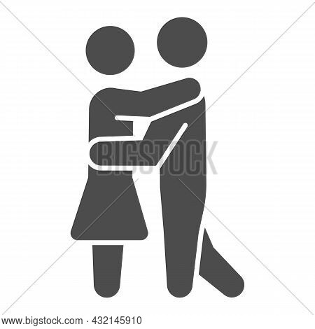Man And Woman Dancing Solid Icon, Dating And Relationship Concept, Couple Slow Dance Vector Sign On