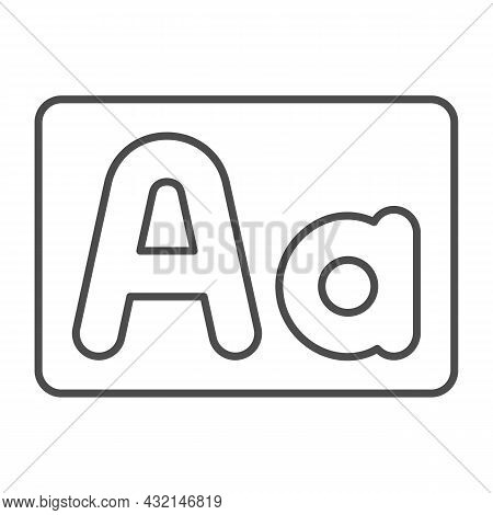 Capital And Small Letter A, Upper And Lower Case Thin Line Icon, Letters Concept, Alphabet Vector Si