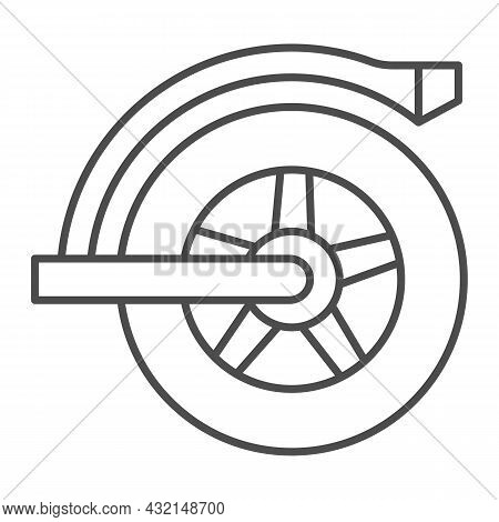 Rear Wheel Of Electric Scooter Thin Line Icon, Electric Transport Concept, Mudguard Wheel Vector Sig