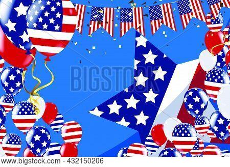 Happy Labor Day Banner,vector Illustration  American Patriotic Background