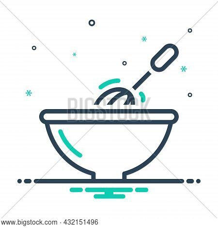 Mix Icon For Stir Mix Blend Bustling Bustle Homemade Household Kitchenware Churn Move