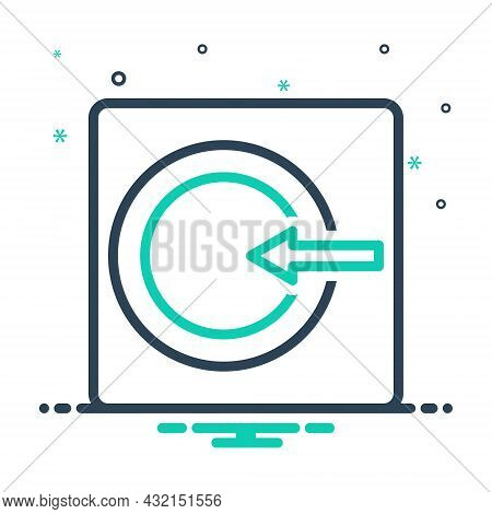Mix Icon For Internal Centralized Inner Inlying Inward Interior Intramural Within