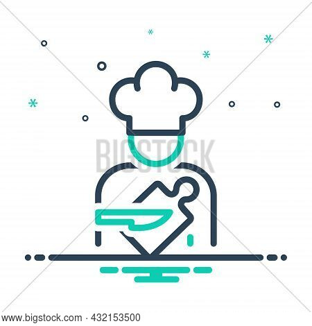 Mix Icon For Cook Chef Food-preparer Short-order-cook Baker Servant Catering Culinary
