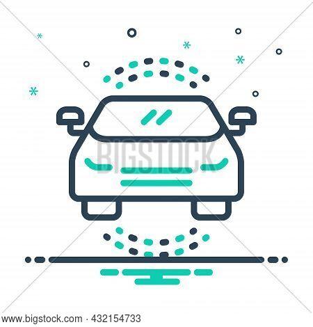 Mix Icon For Auto Passenger Car Automobile Conveyance Carriage Automotive Headlight Transport Travel