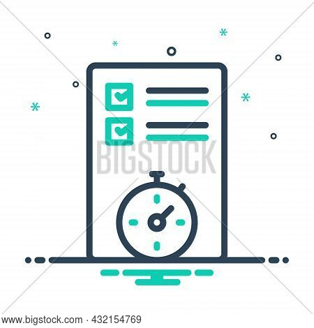 Mix Icon For Planning Organized Arrangement Setting Scheduling Preparation Project Sheme