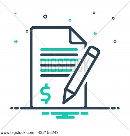 Mix Icon For Claim Demand Requirement Application Money Checklist Document