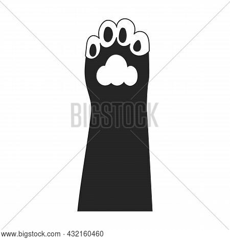 Cat Paw Vector Icon.black Vector Icon Isolated On White Background Cat Paw.
