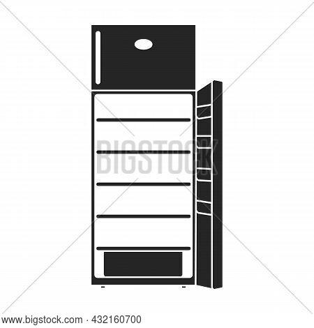 Freezer Vector Icon.black Vector Icon Isolated On White Background Freezer.
