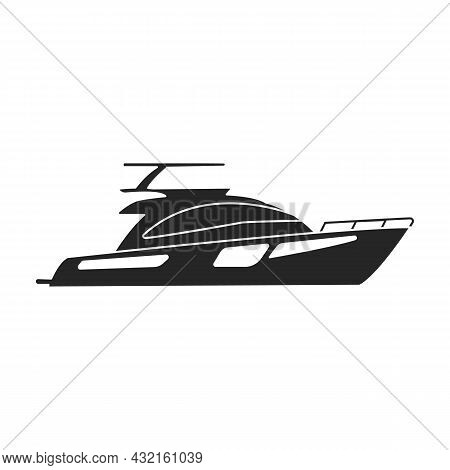 Sail Yacht Vector Icon.black Vector Icon Isolated On White Background Sail Yacht.