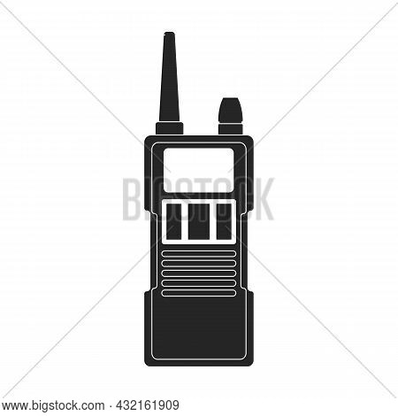 Walkie Talkie Vector Icon.black Vector Icon Isolated On White Background Walkie Talkie.