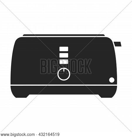 Toaster Vector Icon.black Vector Icon Isolated On White Background Toaster.