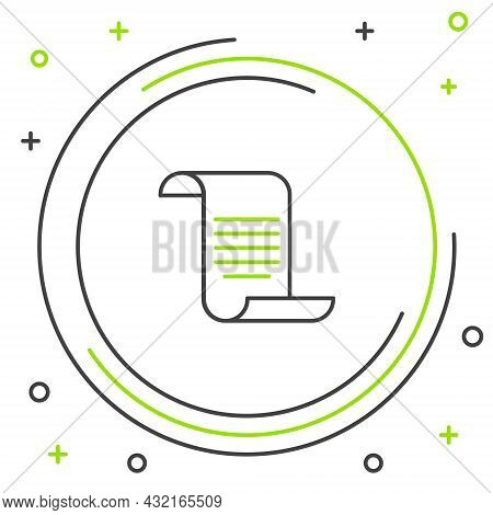 Line Document With Shield Icon Isolated On White Background. Insurance Concept. Security, Safety, Pr