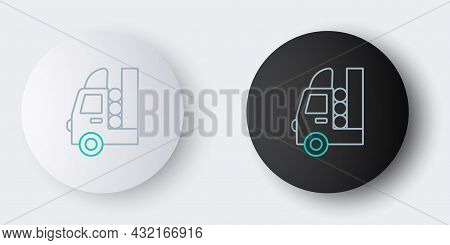 Line Gas Tank For Vehicle Icon Isolated On Grey Background. Gas Tanks Are Installed In A Car. Colorf