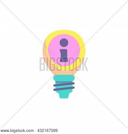 Faq Lamp Flat Icon, Vector Sign, Faq Frequently Asked Questions Colorful Pictogram Isolated On White