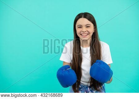 Fight For Success. Confident Child Ready For Competition. Power And Authority.
