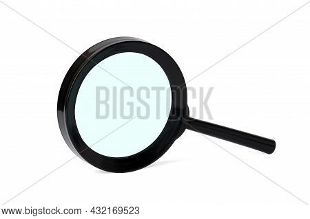 Magnifier Isolated On White Background. Magnifying Glass, Close Up